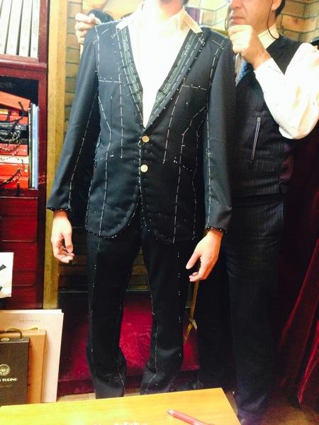 【テーラー渡辺】仮縫いの試着に行ってきました。【仮縫い】